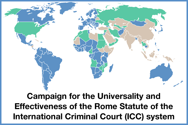 PGA ICC Campaign for the Effectiveness and Universality of the Rome Statute: View Map